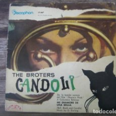 Discos de vinilo: THE BROTHERS CANDOLI - BELL, BOOK AND CANDLE OSR *** RARO EP ESPAÑOL 1960 COOL JAZZ. Lote 133364058