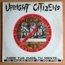 Discos de vinilo: UPRIGHT CITIZENS ABRE TUS OJOS, TU MENTE... - FOBIA DUROS SENTIMIENTOS - HARDCORE PUNK. Lote 133387625