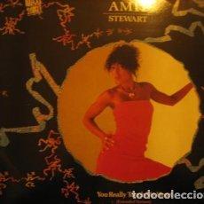 Discos de vinilo: AMII STEWART - YOU REALLY TOUCH MY HEART - MAXI-SINGLE ZAFIRO PROMO 1985. Lote 133389474