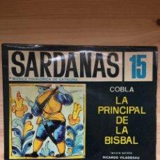 Discos de vinilo: COBLA LA PRINCIPAL DE LA BISBAL - SARDANAS 15 - VIOLETES... + 3 - DISCOPHON 1963. Lote 133391890
