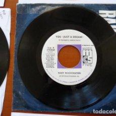 Discos de vinilo: BABY WASHINGTON - I'VE GOT TO BREAK AWAY / YOU (JUST A DREAM) SINGLE ORIGINAL USA 1973 SOUL. Lote 133409210
