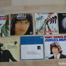 Discos de vinilo: LOTE 7 SINGLES TONY RONALD UNO DE ELLOS MUESTRA INVENDIBLE DESTINADA PROMOCION. Lote 133411982