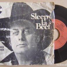 Discos de vinilo: SLEEPY LA BEEF - ROLL OVER BEETHOVEN + SEND ME SOME LOVIN - SINGLE 1979 - CHARLY. Lote 133413050
