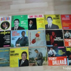 Discos de vinilo: LOTE 15 EP'S Y SINGLES TONY DALLARA. Lote 133413142