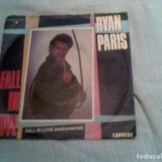 Discos de vinilo: SINGLE FALL IN LOVE DE RYAN PARIS. Lote 133423114