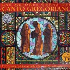 Discos de vinilo: LAS MEJORES OBRAS DEL CANTO GREGORIANO . CORO DE MONJES DEL MONASTERIO BENEDICTINO DE SILOS- 2 X LP . Lote 133424738