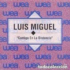 Discos de vinilo: LUIS MIGUEL - CONTIGO EN LA DISTANCIA - SINGLE PROMO SPAIN 1992. Lote 133425758