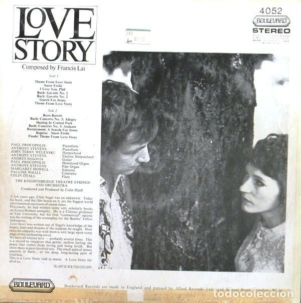 Discos de vinilo: The Knightsbridge Theatre Strings And Orchestra ?– Love Story - Music From The Paramount Picture - Foto 2 - 133427134