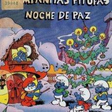 Discos de vinilo: LOS PITUFOS – CAMPANITAS PITUFAS / NOCHE DE PAZ - SINGLE SPAIN 1985. Lote 133434446