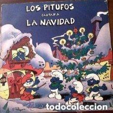 Discos de vinilo: LOS PITUFOS CANTAN A LA NAVIDAD, LP SPAIN 1985. Lote 133434766