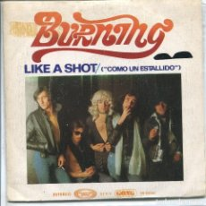 Discos de vinilo: BURNING / LIKE A SHOT / ROCK'N'ROLL (SINGLE 1975). Lote 133435050