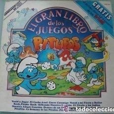 Discos de vinilo: EL GRAN LIBRO DE LOS JUEGOS - PITUFOS - LIBRO + LP - CARNABY 1981 SPAIN. Lote 133439722