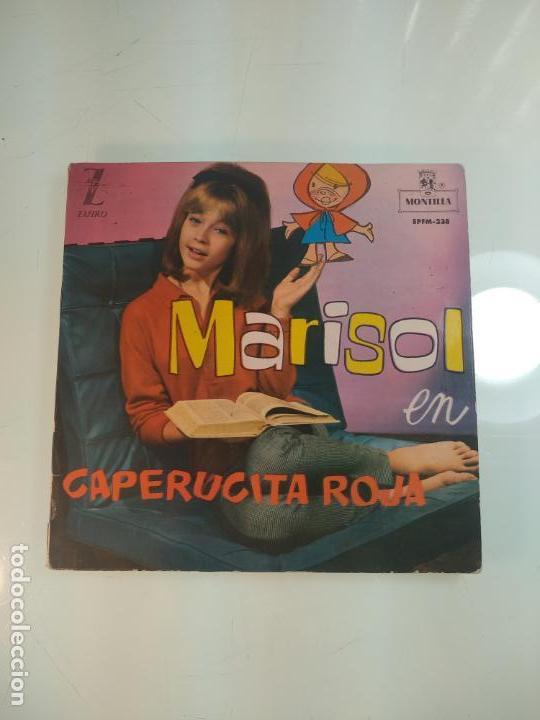 SINGLE VINILO TRANSPARENTE - MARISOL - CAPERUCITA ROJA - CANCIÓN Y CUENTO EN PAPEL - ZAFIRO - (Música - Discos - Singles Vinilo - Solistas Españoles de los 50 y 60)