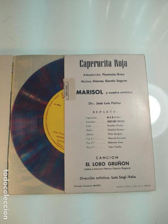 Discos de vinilo: SINGLE VINILO TRANSPARENTE - MARISOL - CAPERUCITA ROJA - CANCIÓN Y CUENTO EN PAPEL - ZAFIRO - - Foto 3 - 160943350