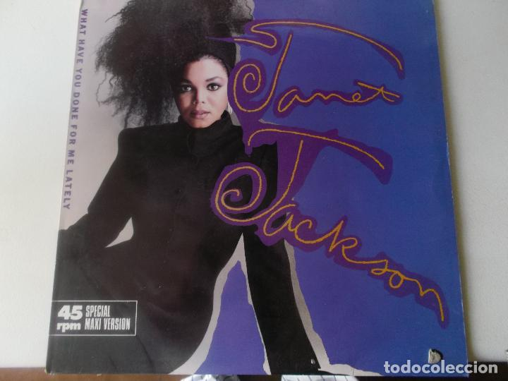 JANET JACKSON?– WHAT HAVE YOU DONE FOR ME LATELY 1986 (Música - Discos de Vinilo - Maxi Singles - Funk, Soul y Black Music)