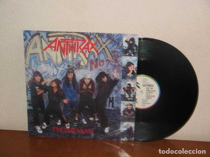 ANTHRAX MAXI 45 RPM MEGA RARE VINTAGE UK 1987 (Música - Discos de Vinilo - Maxi Singles - Heavy - Metal)