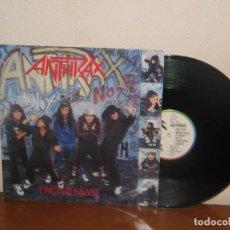 Discos de vinilo: ANTHRAX MAXI 45 RPM MEGA RARE VINTAGE UK 1987. Lote 133454198