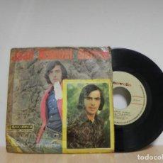 Discos de vinilo: JOAN MANUEL SERRAT / COMO UN GORRION / SI LA MUERTE PISA MI HUERTO . Lote 133460210