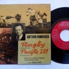 Discos de vinilo: ARTHUR HONEGGER. RUGBY MOVIMIENTO SINFÓNICO. EP LA VOZ DE SU AMO. ESPAÑA 1961. GEORGES TZIPINE. . Lote 133460822