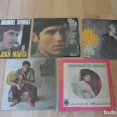 Discos de vinilo: LOTE 5 EP'S Y SINGLES JOAN MANUEL SERRAT. Lote 133463726