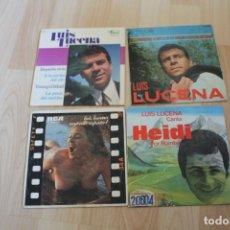 Discos de vinilo: LOTE 4 EP'S Y SINGLES LUIS LUCENA. Lote 133464578