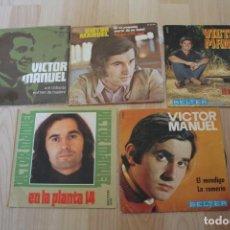 Discos de vinilo: LOTE 5 SINGLES VICTOR MANUEL. Lote 133464806