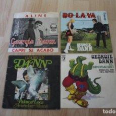 Discos de vinilo: LOTE 4 SINGLES GEORGIE DANN. Lote 133465146