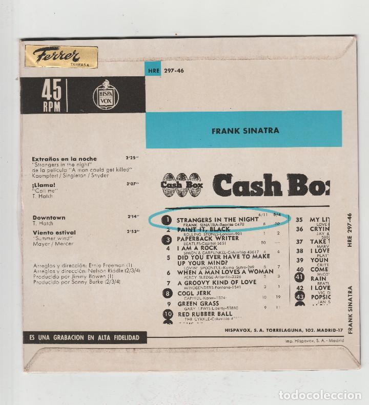Discos de vinilo: FRANK SINATRA-EXTRAÑOS EN LA NOCHE - Foto 2 - 133465414