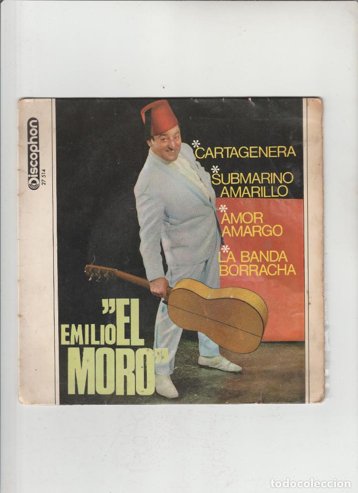 EMILIO EL MORO- CARTAGENERA-SUBMARINO AMARILLO-AMOR AMARGO (Música - Discos - Singles Vinilo - Otros estilos)