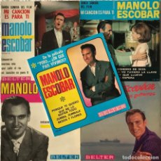 Discos de vinilo: MANOLO ESCOBAR - 5 EP'S EDITADOS EN FRANCIA. Lote 133467102