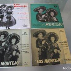 Discos de vinilo: LOTE 4 EP'S LOS MONTEJO. Lote 133474546