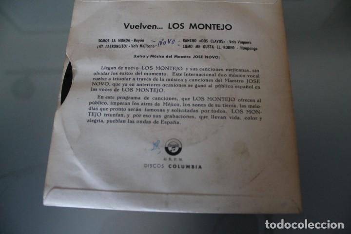 Discos de vinilo: LOTE 4 EPS LOS MONTEJO - Foto 5 - 133474546