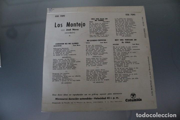 Discos de vinilo: LOTE 4 EPS LOS MONTEJO - Foto 7 - 133474546