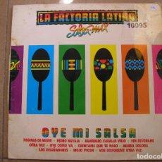 Discos de vinilo: OYE MI SALSA - LA FACTORIA LATINA - EMI-ODEON 1990 - MAXI - P - LS -. Lote 133476230