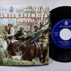 Discos de vinilo: LOS MARISMEÑOS. CARAMBA, CARAMBITA. SINGLE HISPAVOX 45-1001. ESPAÑA 1973. PACO DE LUCÍA. . Lote 133479082
