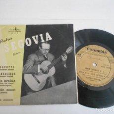 Discos de vinilo: ANDRES SEGOVIA-EP GAVOTTE +3. Lote 133479310