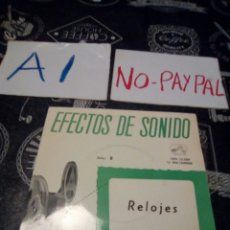 Discos de vinilo: EFECTOS DE SONIDO RELOJES. Lote 133486267