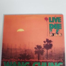 Discos de vinilo: TO LIVE AND TO DIE IN L.A. ( 1985 GEFFEN RECORDS GERMANY ) WANG CHUNG WILLIAM FRIEDKIN COMO NUEVO. Lote 133486982