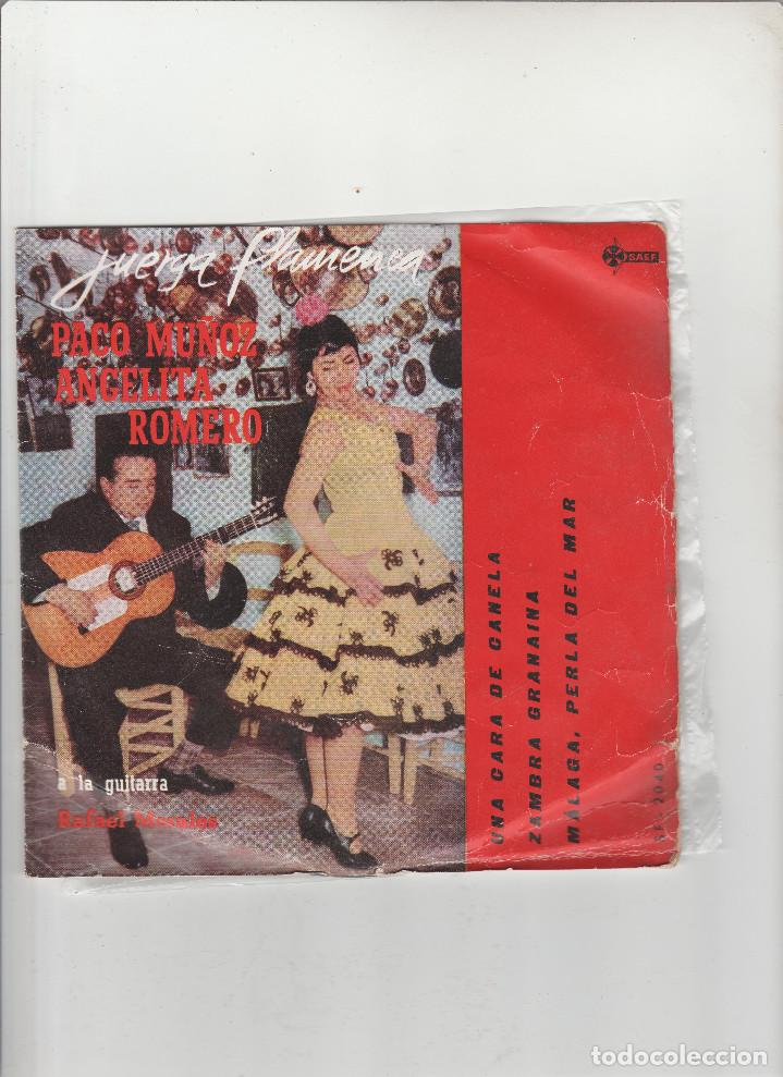 PACO MUÑOZ-ANGELITA ROMERO-JUERGA FLAMENCA (Música - Discos - Singles Vinilo - Otros estilos)