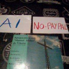 Discos de vinilo: AGRUPACIÓN MANUEL IRADIER DE VITORIA COLUMBIA CELEDON ZALDIARAN , EN EL MONTE GORBEA,ROMERIA OLARIZU. Lote 133488669