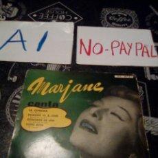 Discos de vinilo: MARJANE CANTA CON JO MOUTET EN ESPAÑOL HISPA VOX. Lote 133489667