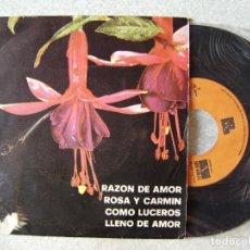 Discos de vinilo: LOS CAIRELES.RAZON DE AMOR + 3. Lote 133492390
