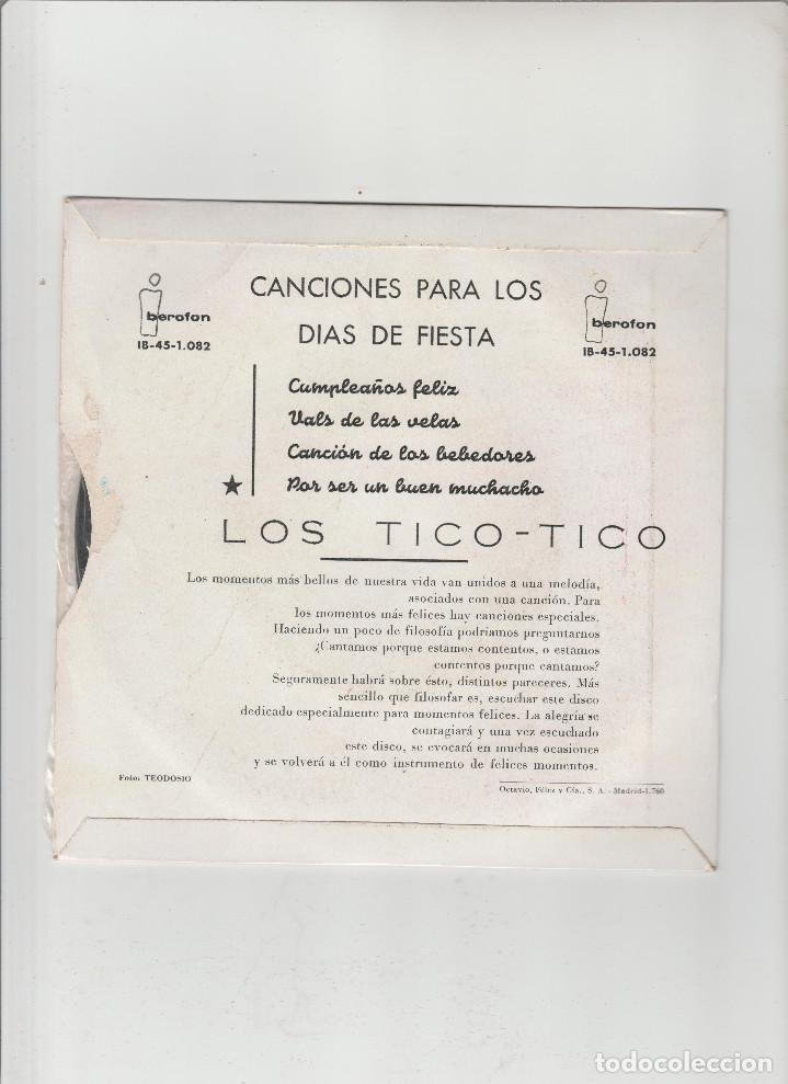 Discos de vinilo: LOS TICO-TICO-CANCIONES PARA LOS DIAS DE FIESTA - Foto 2 - 133492730