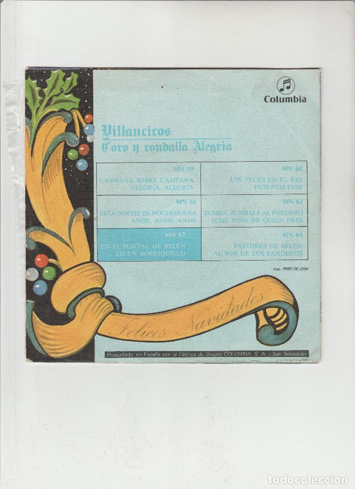 Discos de vinilo: 5-VILLANCICOS-EN EL PORTAL DE BELEN - Foto 2 - 133492998