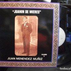 Discos de vinilo: JUANIN DE MIERES JUAN MENENDEZ MUÑIZ VOL 8 SFA 1991 PRINCIPADO DE ASTURIAS PEPETO. Lote 133495722