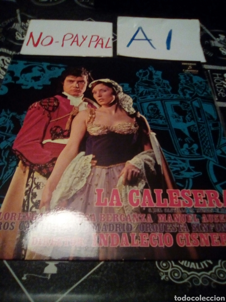LA CALESERA INDALECIO CISNEROS (Música - Discos - LP Vinilo - Clásica, Ópera, Zarzuela y Marchas)