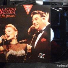 Discos de vinilo: PLACIDO DOMINGO / PALOMA SAN BASILIO – PLACIDO PALOMA POR FIN JUNTOS! EN VIVO - DOBLE LP 1991 PEPETO. Lote 133496322