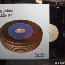 Discos de vinilo: VOCES VIAJERAS DE ASTURIAS. JOAQUIN PIXAN, JOSE PRENDES. LP SFA ALSA VIACA. COMO NUEVO . Lote 133496578