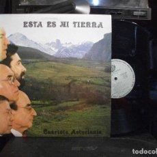 Discos de vinilo: CUARTETO ASTURIANIA-ESTA ES MI TIERRA LP SFA 1987 SPAIN ASTURIAS COMO NUEVO¡¡. Lote 133497374