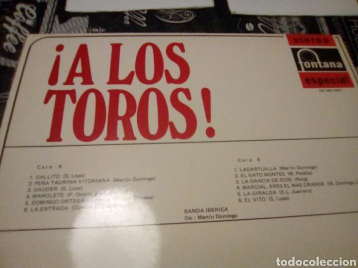 Discos de vinilo: A los toros stereo fontana especial - Foto 2 - 133497418